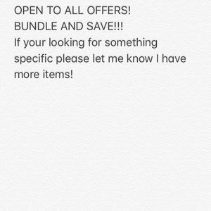 OPEN TO OFFERS